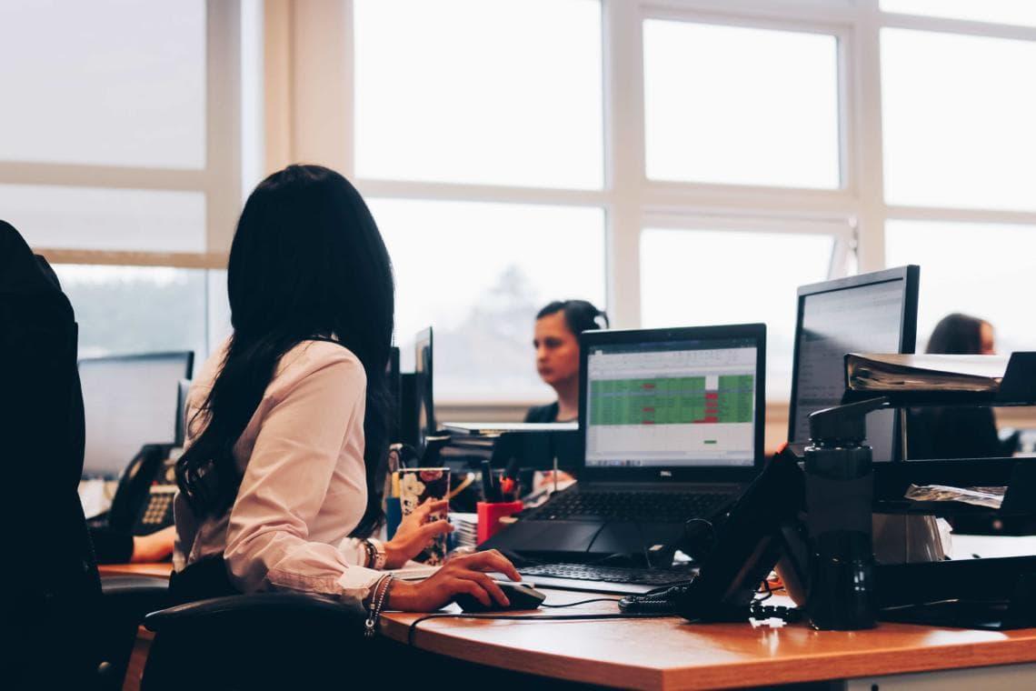 Accountant working on IR35 Tax spreadsheet
